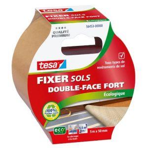 Tesa Adhésif fixation sol écologique - 5 m x 50 mm - Adhésif double face