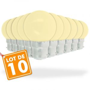 Eclairage design Lot de 10 Ampoules Led Blanc Chaud 1 watt (équivalent à 10 watt) Guirlande Guinguette