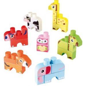 Ecoiffier 7774 - Abrick : Boîte de 7 animaux Maxi Abrick
