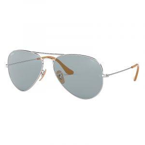 Ray-Ban Aviator evolve Homme Sunglasses Verres  Bleu, Monture  Argent -  RB3025 ab2b6e478b