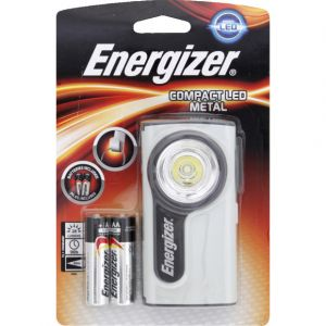 Energizer Lampe torche Compact Led Metal + 3 piles LR06/AA