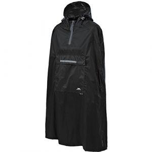 Trespass Qikpac Poncho Vestes coupe-pluie Homme Noir FR S (Taille Fabricant S)