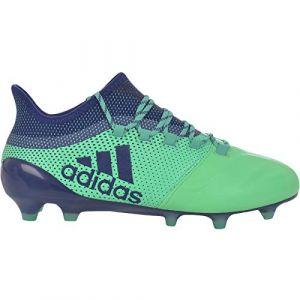 Adidas X 17.1 FG, Chaussures de Football Homme, Bleu Uniink/Hiregr, 44 EU