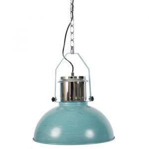 Lustre en métal Style industriel Ø 37,5 cm Chromé et vert vieilli