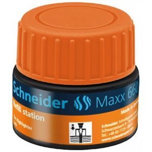 Schneider Electric 166006 - Station de recharge Maxx 660, encre orange de surligneur