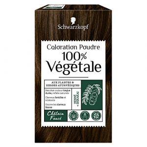 Schwarzkopf Coloration poudre 100% Végétale Châtain Foncé