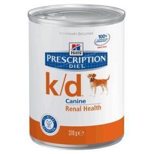 Hill's Prescription Diet k/d Canine - 12 boîtes de 370 g