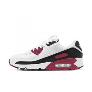 Nike Homme Air Max 90 Leather Blanc Noir Bordeaux Rétro-Running