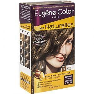 Eugène Color les naturelles - Blond foncé 9, crème colorante permanente nutri protectrice aux extraits d'olive