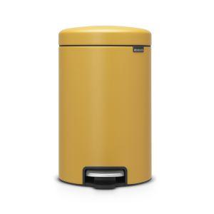 Brabantia Poubelle à Pédale newIcon, 12 litres, Mineral Mustard Yellow - 115868