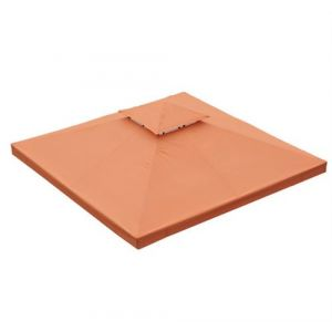 Homcom Toile de toit de rechange pour pavillon tonnelle tente 3x3m orange terracotta