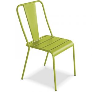 Oviala Chaise de jardin en métal, Dieppe - Vert