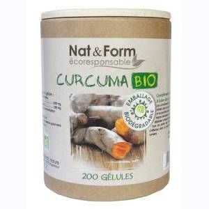 Nat & Form Curcuma Bio 200 gélules Eco Responsable