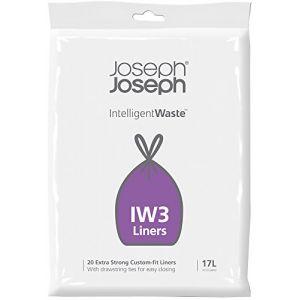 Joseph joseph 20 sacs poubelle en plastique 30026 IW3 17L