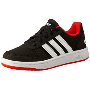 Adidas Hoops 2.0 K, Chaussures de Fitness Mixte Enfant, Noir