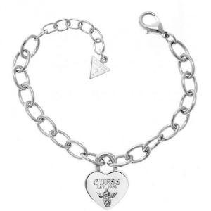 Guess UBB21567 - Bracelet Chaine Coeur en métal pour femme
