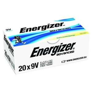 Energizer Lot de 20 piles 9V 6LR61 Advanced