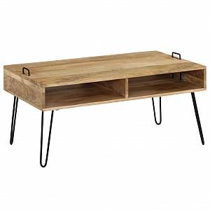 VidaXL Table basse Bois de manguier massif 100 x 60 x 45 cm