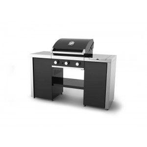 Grandhall Premium GT3 Island - Cuisine d'extérieur avec barbecue à gaz 3 brûleurs