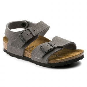 Image de Birkenstock New York, Sandales Mixte Enfant - Gris (Dark Gull Grey), 29 EU