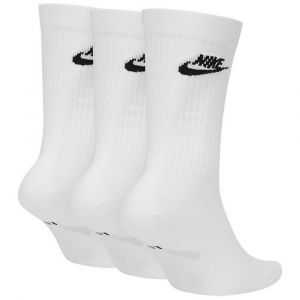 Nike U NK NSW EVRY Essential Crew Chaussettes Mixte Adulte, White/Black, FR : L (Taille Fabricant : L)