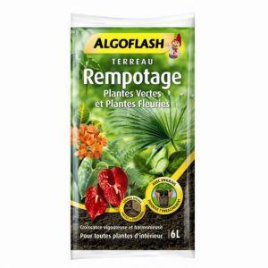 Algoflash Terreau Rempotage, Plantes Vertes et Fleuries 6L