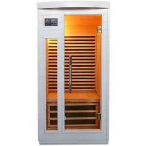 Sauna infrarouge Blanc émetteur carbone 1500W 1 place - SNÖ