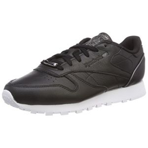 Reebok Leather HW W black/silver metallic/white