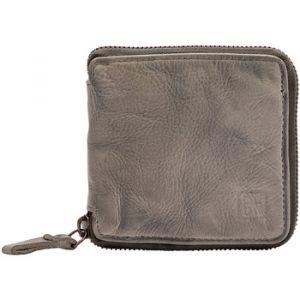 Dudu Portefeuille homme avec fermeture en cuir vintage zip sur 3 côtés avec porte-monnaie et emplacement cartes Ash Gray