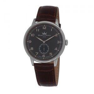 Yonger & bresson HCC 1684 - Montre pour homme avec bracelet en cuir