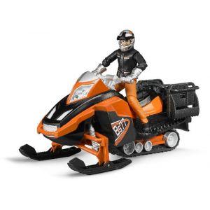 Bruder Toys 63101 - Moto neige avec conducteur et accessoires