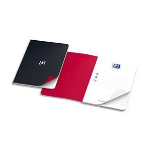 Oxford Pocket Notes agrafé couverture carte 9 x 14 cm - 48 pages - ligné 6 mm rouge
