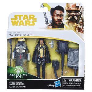 Hasbro Coffret 2 figurines 10 cm - Star Wars Han Solo - Garde de Kessel et Lando Calrissian