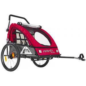 Red Cycling Products PRO Kids BikeTrailer - Remorque vélo - gris/rouge Remorques pour enfant