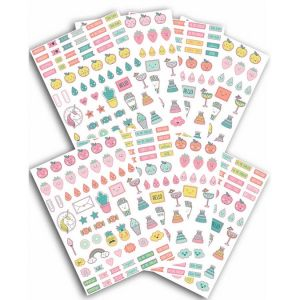 Toga Stickers agenda planner organisation - Happy Days - 500 pcs