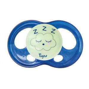 Tigex 2 Sucettes SOFT TOUCH NIGHT Silicone 6-18m PHOSPHO