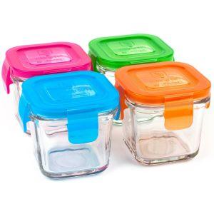 Wean Green Snack Cubes - 4 boîtes de conservation 210 ml