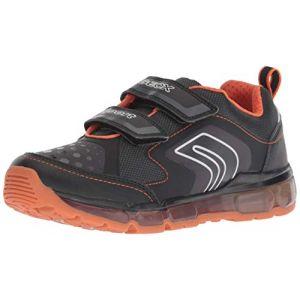Geox J Android A, Sneakers Basses garçon, Noir (Black/Orange C0038), 31 EU