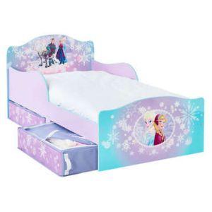 Lit La Reine Des Neiges avec tiroirs de rangement (70 x 140 cm)