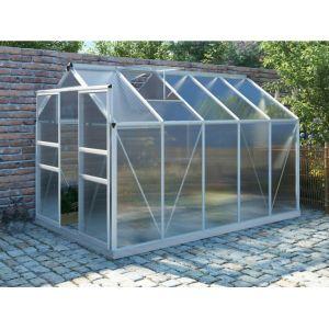 Serre de Jardin en polycarbonate de 9 m² COROLLE II avec em al ini