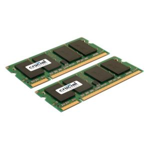 Crucial CT2KIT51264AC800 - Barrettes mémoire 2 x 4 Go DDR2 800 MHz 200 broches