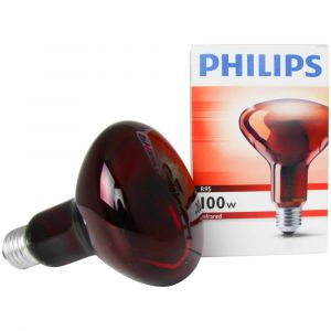Philips Réflecteur de la lampe infrarouge, E27/100W-R95