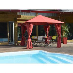 Homcom Toile de toit Prado 3x3m rouge piment