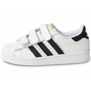 Adidas B26070, Chaussures de Basketball Garçon, Blanc (Footwear White/Core Black/Footwear White), 35 EU
