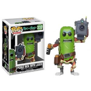 Funko Figurine Pop Vinyl Morty- Pickle Rick w/Laser, 27862