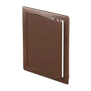 Awenta 150x150mm ABS brun en plastique durable panneau d'inspection trappe mur porte d'accès