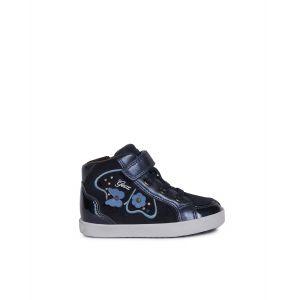 Geox B Kilwi Girl A, Sneakers Basses bébé Fille, Bleu (DK Navy C4021), 23 EU