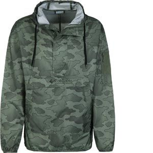 Columbia Homme Veste Coupe-vent Imperméable, CHALLENGER, Polyester, Vert (Cypress Camo), Taille : XL, 1714291