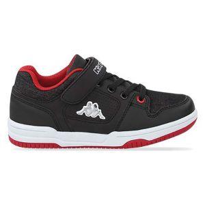 Kappa Chaussures de Sport pour Fille et Garçon 304NN80 Karter EV 902 Black-Red Taille 34 EU