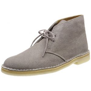 Clarks Desert Boots Homme, Beige (Taupe Canvas), 44.5 EU